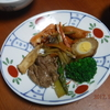 幸運な病のレシピ( 147 ) 普通の朝食、牛アスパラ、鮭ハラミ、キンピラ、ブロッコリ、加工肉