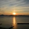夕陽と飛鳥II…