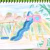 【けものフレンズ2考察】2話のアヅアエンとスケブの絵の竹の長さを比べてどれくらいの年数が立ったかを調べる