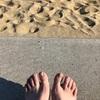 海でアーシングをしてきました