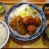 万福食堂/まぐろフライ×鶏からあげ定食