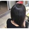 乾かしただけで完成。クセ毛を綺麗にストカール!