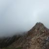 雲の上、雲の中、岩山!