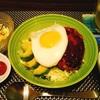 焼くだけの冷凍ハンバーグで簡単ロコモコ丼(´ω`*)