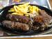 「ブロンコビリー」の「ランチステーキ・がんこハンバーグコンビ」
