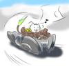 【一言イラスト】カラデシュ産の機体に乗って爆走する狼の試作機くん