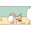 砂浜の穴には何がいる? 【4コマ漫画】