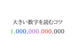1,000,000,000,000←この数字すぐに読めますか?