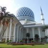 マレーシア最大のモスク、ブルーモスクへ