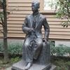 上野の滝廉太郎像と澄川喜一