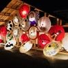 """山鹿灯籠の竹灯り、和傘が温泉町を彩る冬の夜☆8月の""""本家""""より2月の方が開催日数は多い!"""