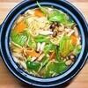 焼きそばで野菜たっぷり海鮮煮込みラーメンの作り方。