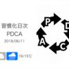 週が替わりカウントをリセットすることが次への原動力となる[習慣化日次PDCA 2018/06/11]
