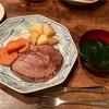 ビーフステーキ【休日の鉄板メニュー】&カボチャのサラダ レシピ