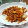 今日の晩飯 豚キムチライスと揚げ出し豆腐を作ってみた