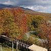 岩手県の網張温泉の方をドライブ。紅葉がキレイに見えます。