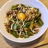 【男の飯】「鶏とピーマン、筍のソース炒め丼」