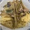 ふきと梅のスパゲティー