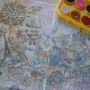 100均ダイソーの固形水彩でヌリエマップ『ニッポン&セカイ』のWORLDの続きを塗ってみました