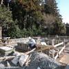 佐渡 地産材による物置の新築/基礎工事順調に