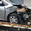 千葉市から事故車をレッカー車で廃車の引き取りしました。