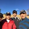 今日は、強風の中、今年最後のゴルフでした。