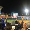 横浜スタジアムで、CSファーストステージ突破を見届ける