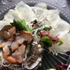 山口県宇部市、ふくふく亭で大分のかぼすヒラメやサザエを食べる