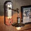 工業系照明インダストリアルシェード&フック付ブラケットライト|真鍮・木ウォールランプ|Hi-Romi.com 完全オリジナル照明 【DOL-18-002】