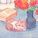 猫のイラスト 水彩