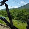 知床峠と滝二つ