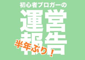 【初心者の運営】半年ぶりの運営報告!PV、記事数、注目記事とか!