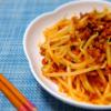 たっぷりもやしと挽き肉のピリ辛炒めの作り方/レシピ