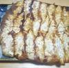週末定番、手作り羽根付き焼き餃子の一皿 より。