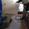 新築アパートの工事 石膏ボード 2重張り