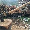 「薪割り斧」柄の補強