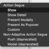 ActionSegueの動作を確認する