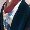 【着物コーディネート帖】クリスマスマーケットは紬着物に手作り半幅帯でした