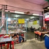 ウドムスック駅近くのクイッティアオ食堂イェンターフォー・ソーンピーノーン・ジャオガオ・ウドムスック@ウドムスック