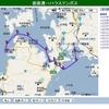 Google mapとGoogle Earthで見られます。ヨット予定航路と航跡。