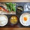 フライパンで楽ちん!焼き鮭定食献立【和食朝食レシピ】