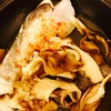 真鱈と舞茸のタジン鍋蒸しと、キノコシメ