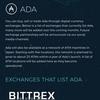 【ADA、BITTREXに続き2取引所に近日上場予定!!】