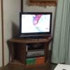 新しいカントリー調のテレビ台を作りました