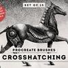 【procreate】クロスハッチングブラシ