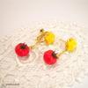 新作☆トマト〈花と実〉ピアス/イヤリング