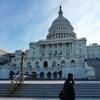 米国横断旅の記録:早朝のアメリカ合衆国議会議事堂と夜のホワイトハウス