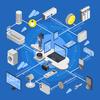 未来の暮らし方、IoT技術の進化と強化。未来予想の一部。
