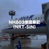 NH803便搭乗記:エアージャパン運航便で成田空港からシンガポール・チャンギ国際空港へ