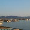 今日の1枚 ~漁港と淡路島~